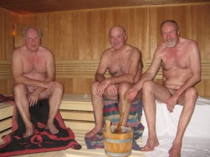 naked daddies in sauna